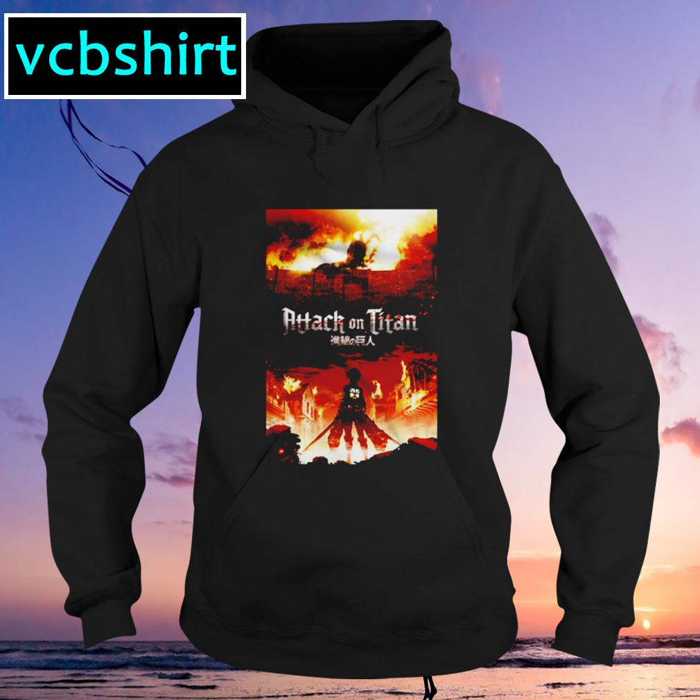 Attack on titan fire Hoodie