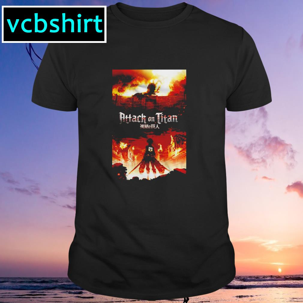 Attack on titan fire shirt