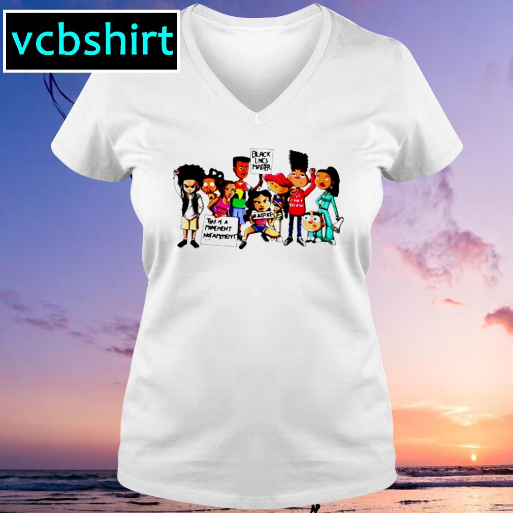 Black Lives Matter This Is A Movement Not A Moment s V-neck t-shirt