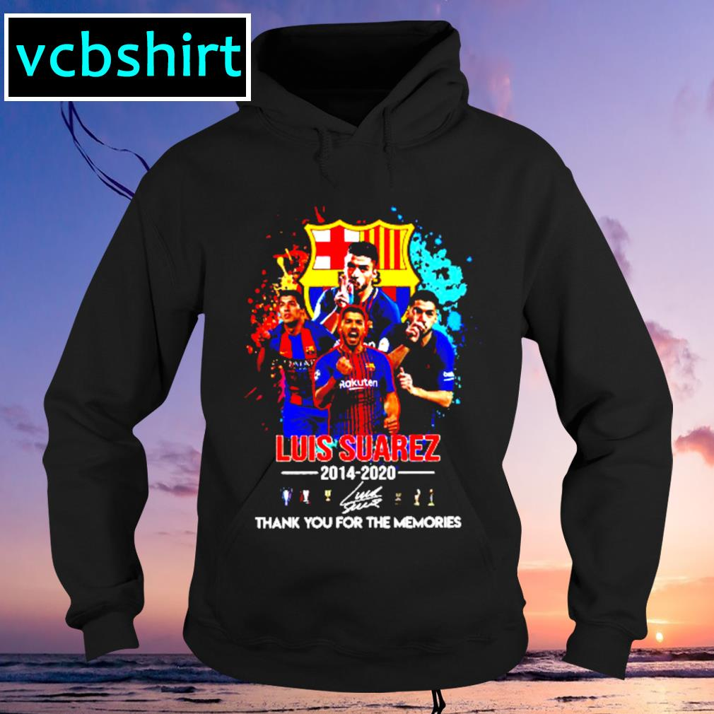 Barcelona Luis Suarez 2014 2020 Thank you for the memories signature s Hoodie