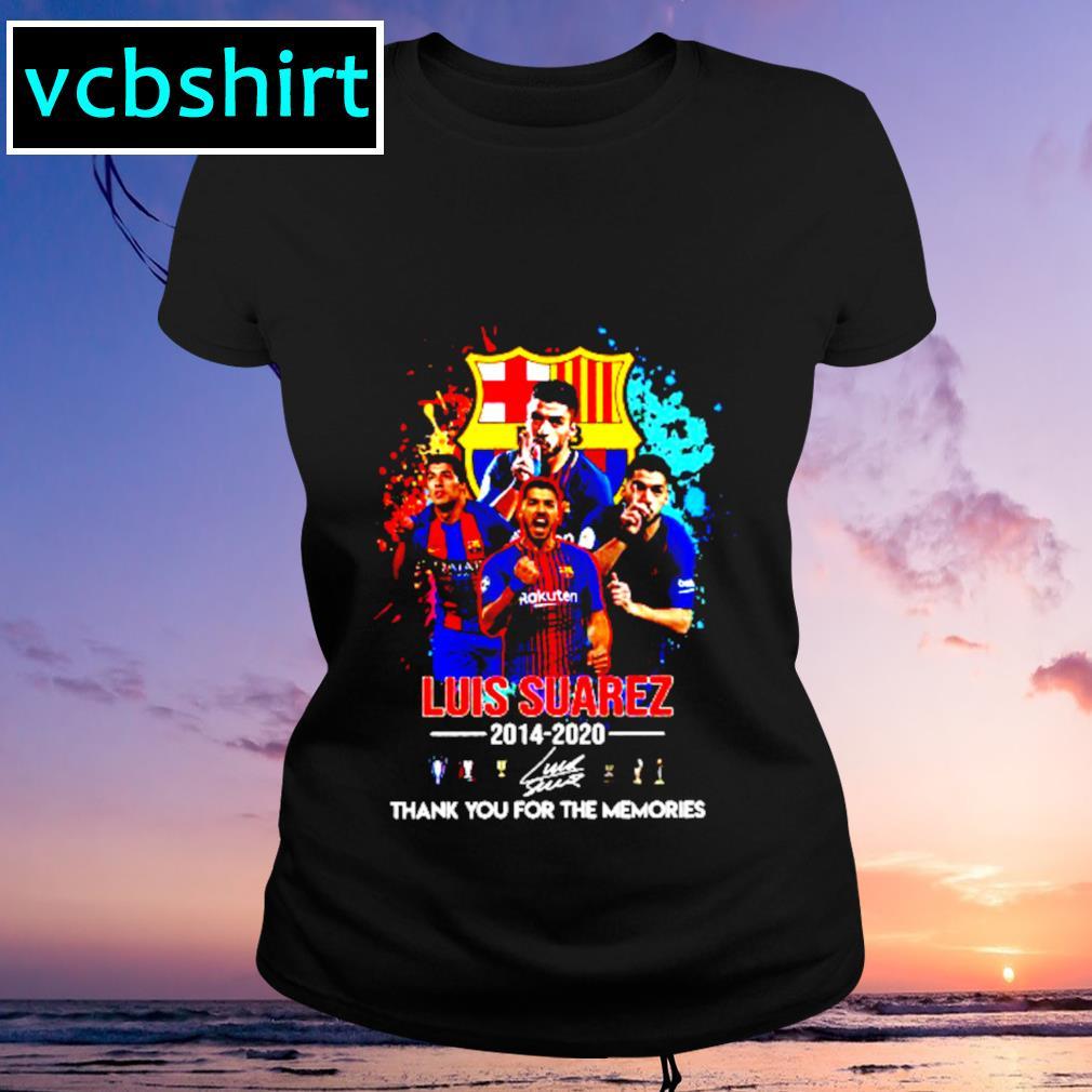 Barcelona Luis Suarez 2014 2020 Thank you for the memories signature s Ladies-tee