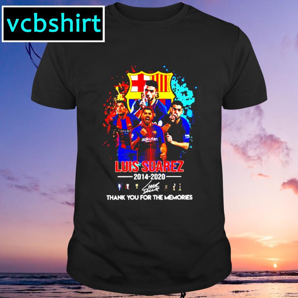 Barcelona Luis Suarez 2014 2020 Thank you for the memories signature shirt