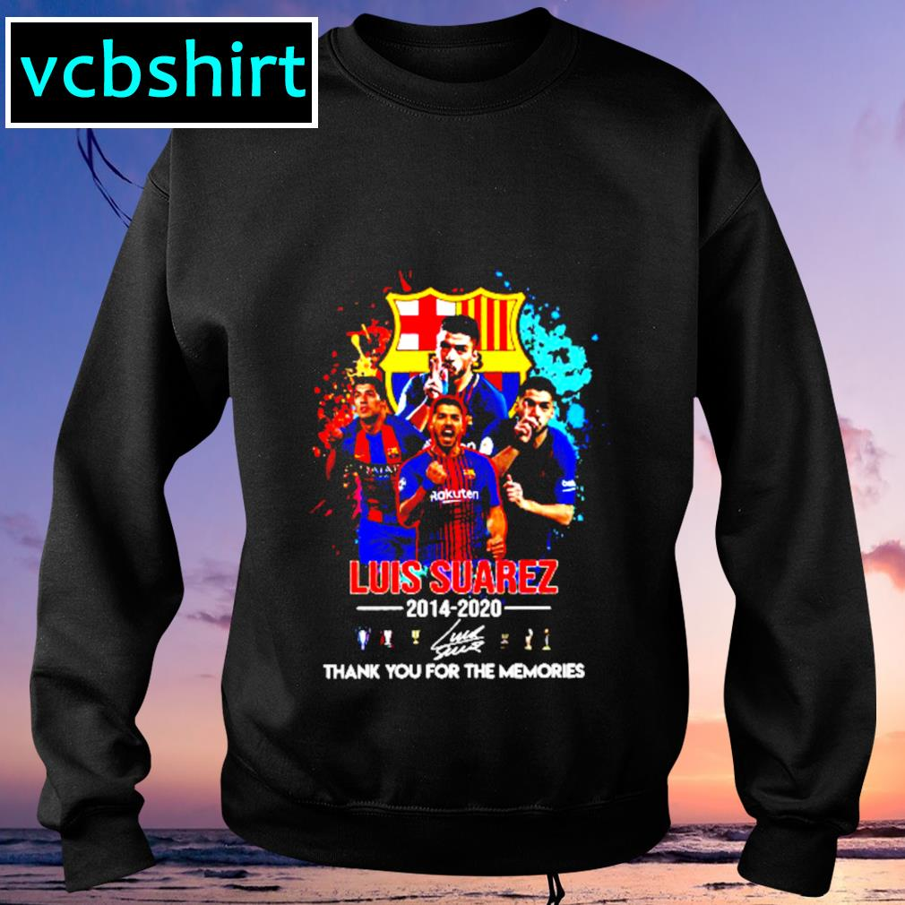 Barcelona Luis Suarez 2014 2020 Thank you for the memories signature s Sweater