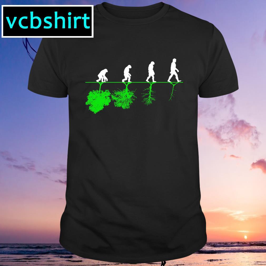 Evolution humans and trees shirt
