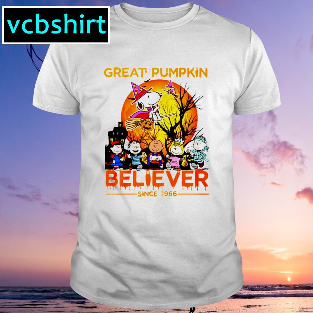 Great pumpkin believe since 1966 Snoopy shirt