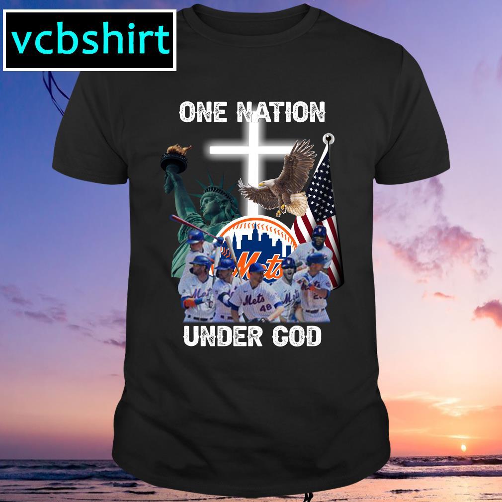 New York Mets one nation under God shirt MF
