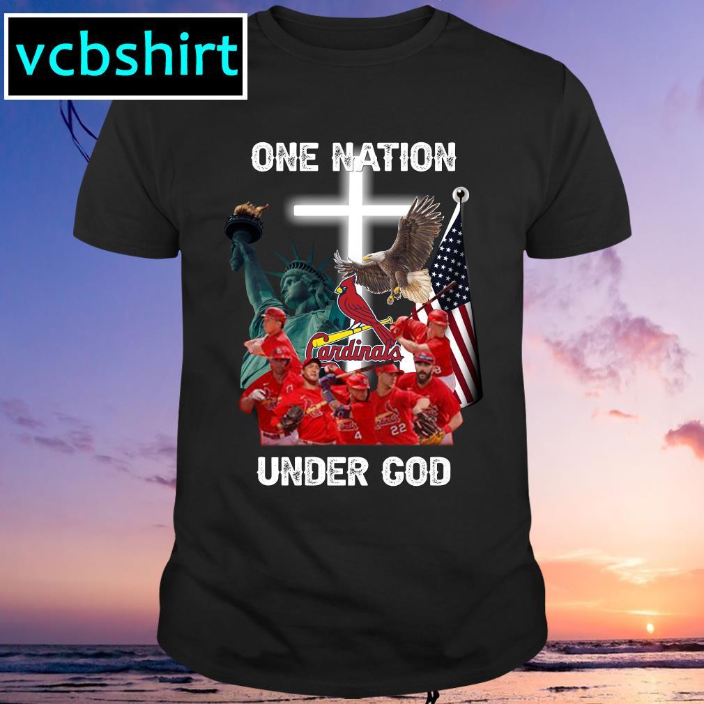 St. Louis Cardinals one nation under God shirt MF
