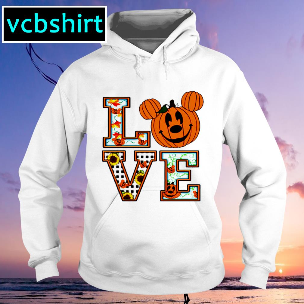 Sunflower Mickey mouse pumpkin love s Hoodie