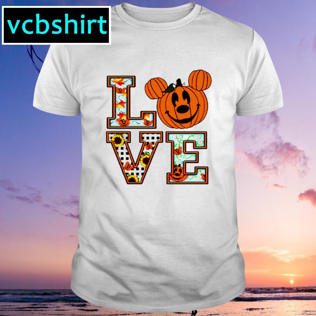 Sunflower Mickey mouse pumpkin love shirt