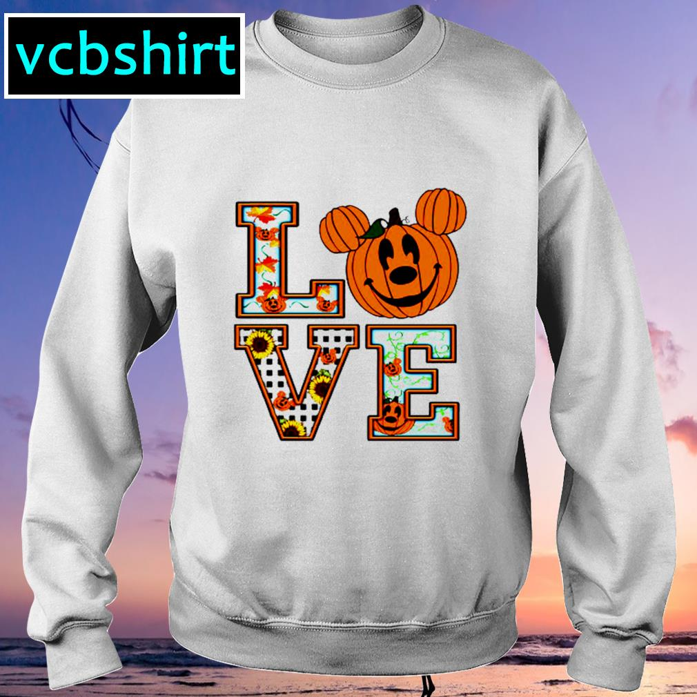Sunflower Mickey mouse pumpkin love s Sweater