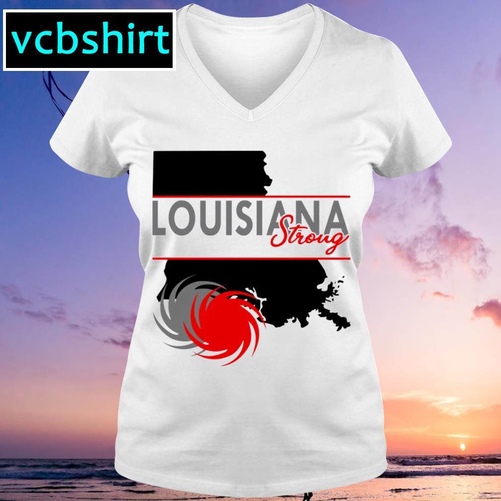 Louisiana strong s V-neck t-shirt