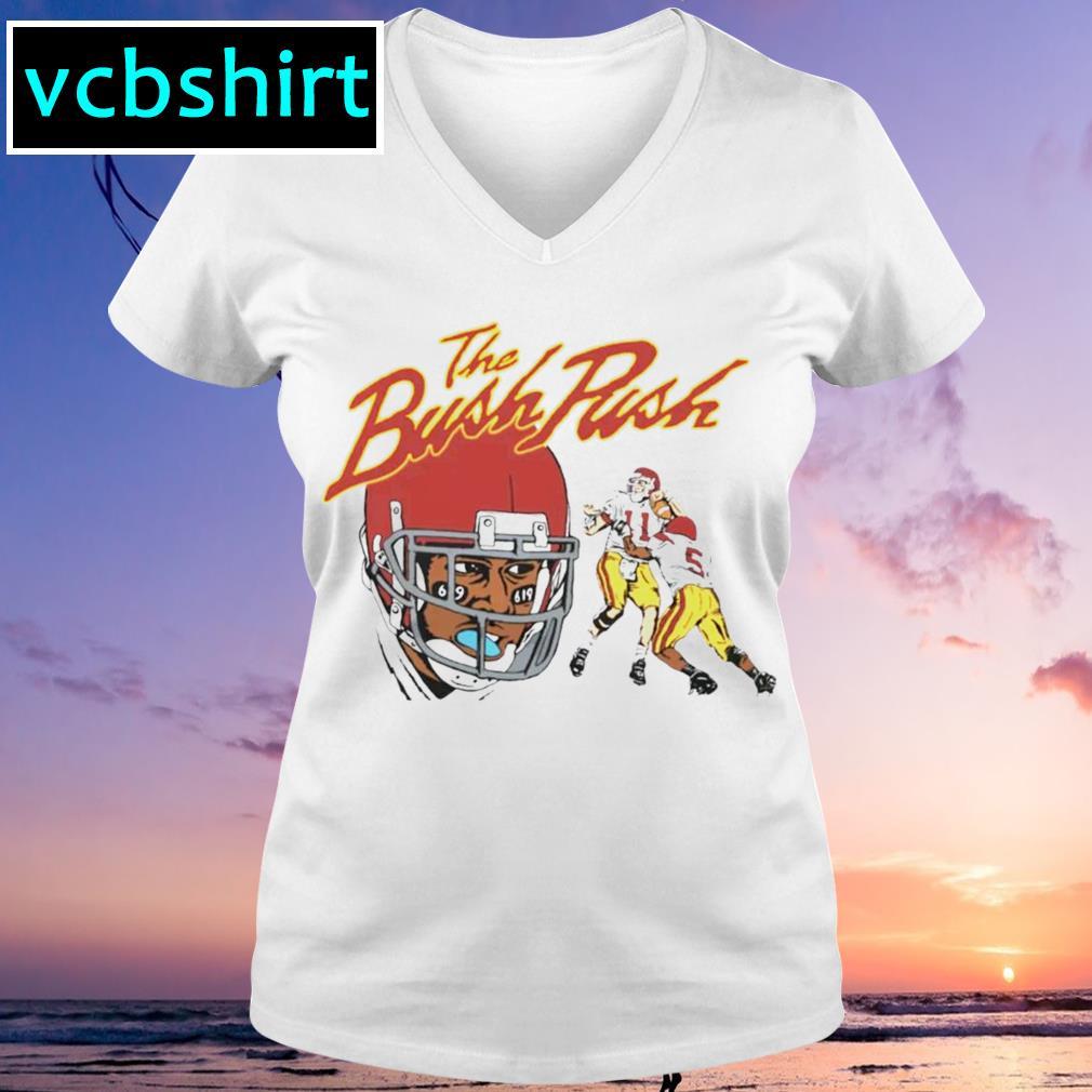 The Bush Push s V-neck t-shirt